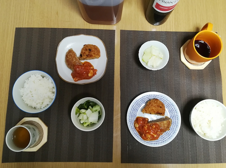 ダイエット晩飯
