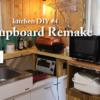狭いキッチンKitchenDIY4 食器棚リメイク&棚作成でスペース改善アイリスオーヤマ食洗機があっても大丈夫